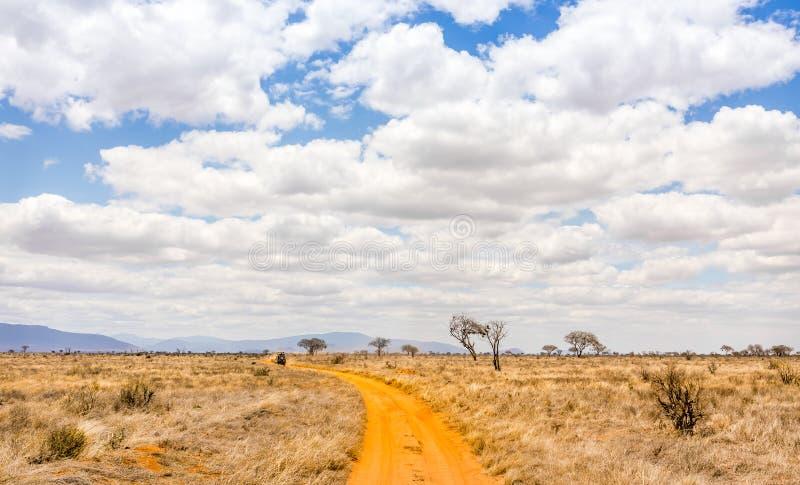 Safari road in Kenya stock photos