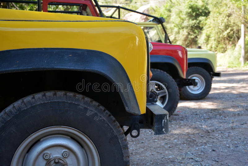 Safari samochody obrazy royalty free
