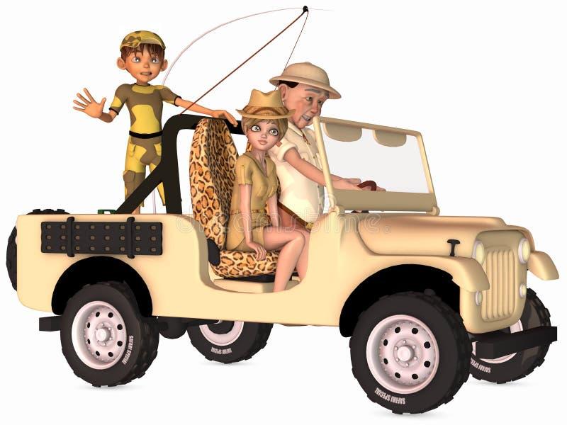 safari scena Toon ilustracji