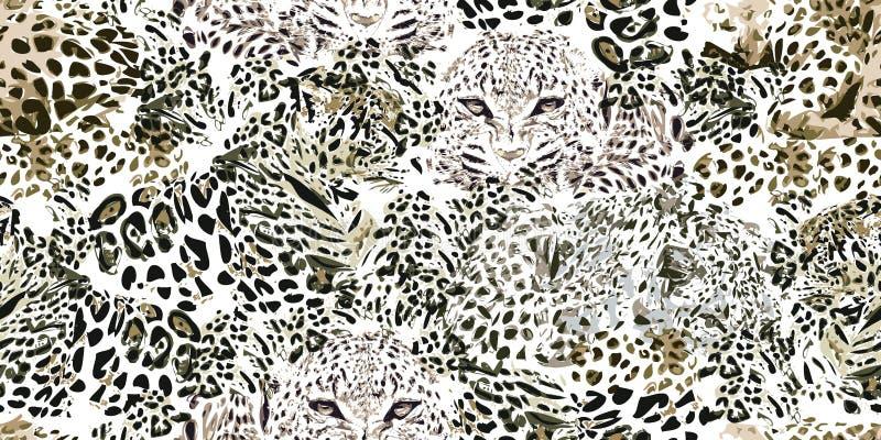 Safari sen Grunge tło z lampartów punktami ilustracji