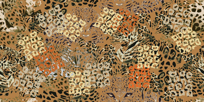 Safari sen Grunge tło z lampartów punktami royalty ilustracja