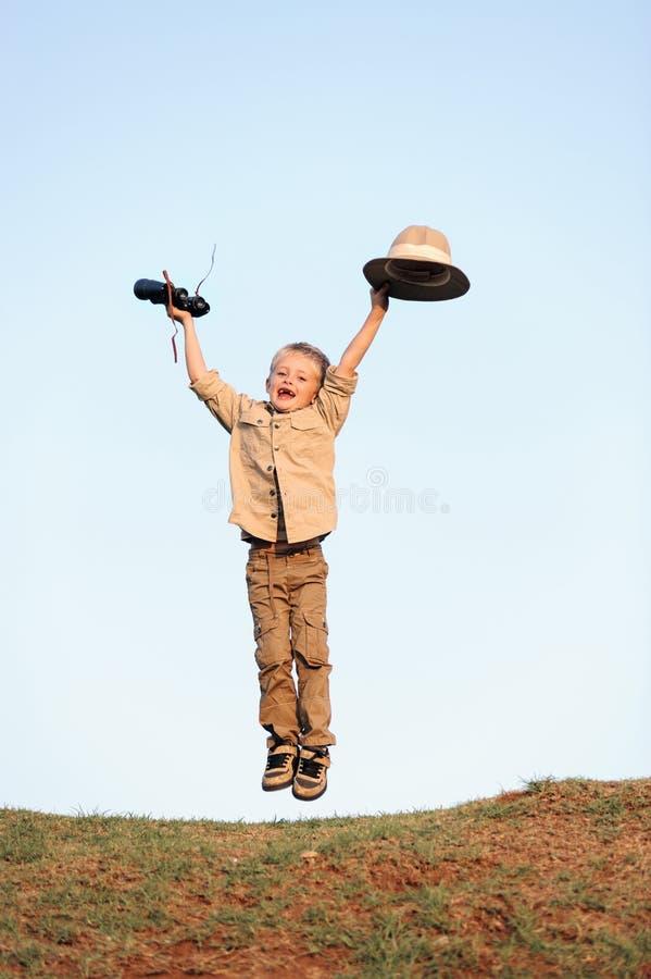 Safari szczęśliwy dziecko zdjęcia royalty free