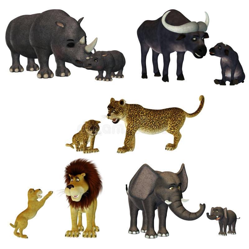safari toon vektor illustrationer