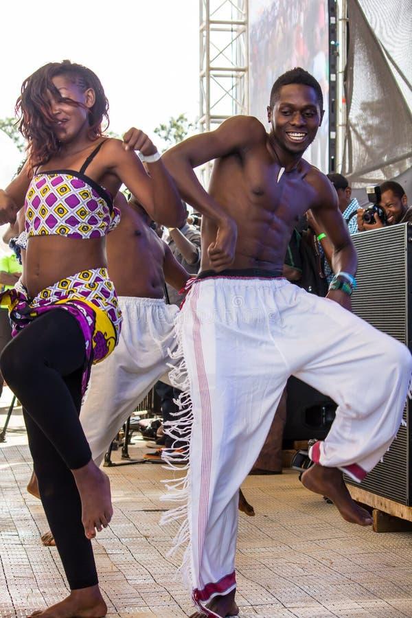Safaricom Jazz Festival Dancers imagem de stock royalty free