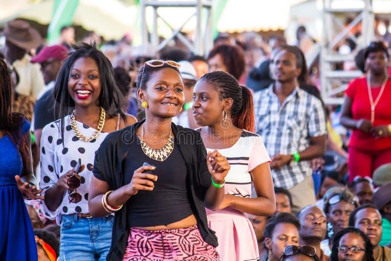 Safaricom Jazz Festival Fans fotografie stock libere da diritti