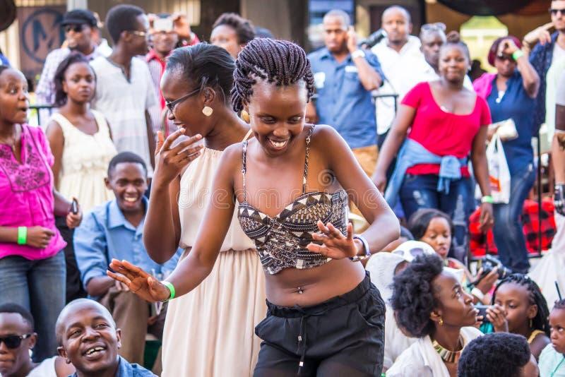 Safaricom Jazz Festival Fans immagini stock