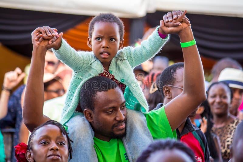 Safaricom Jazz Festival Fans fotografia stock