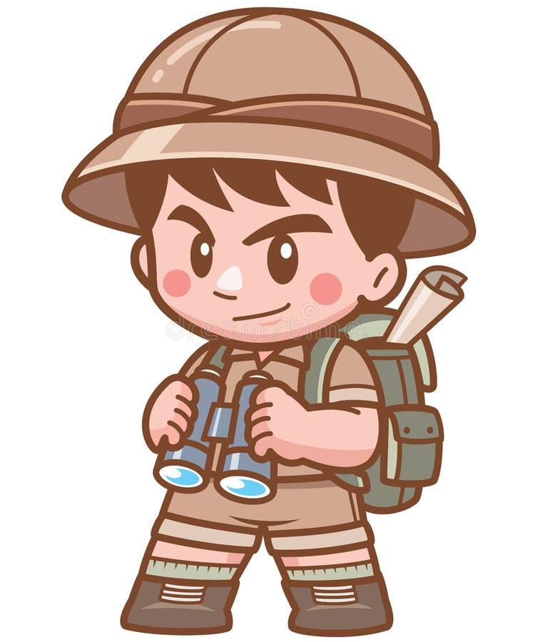 Safarijongen vector illustratie