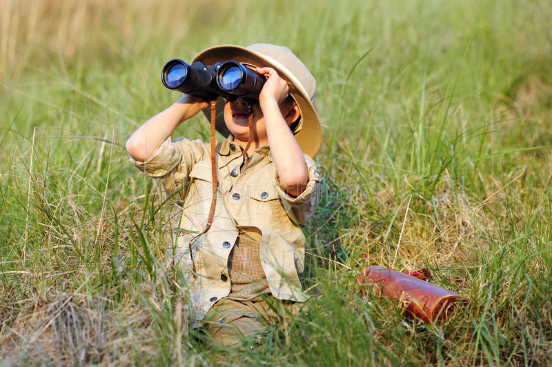 Safarijunge lizenzfreie stockfotos