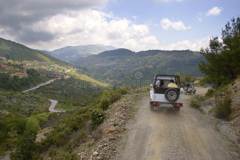 safarikalkon för jeep s arkivbilder