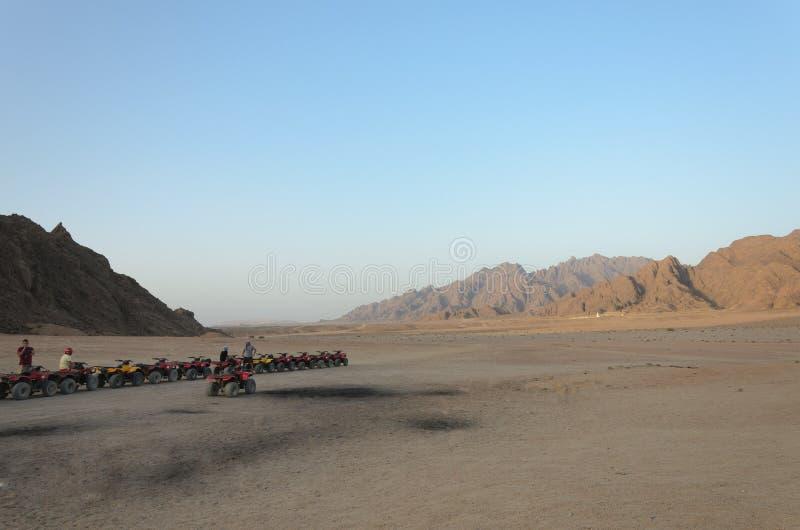 Safaris de ATV Excursões em Egito foto de stock