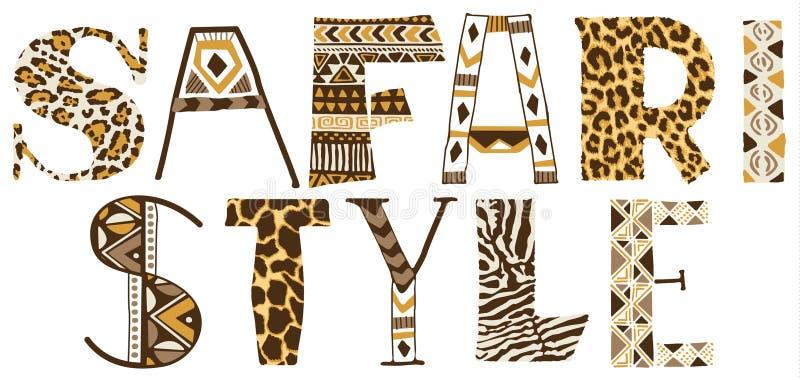 Safaristijl royalty-vrije illustratie