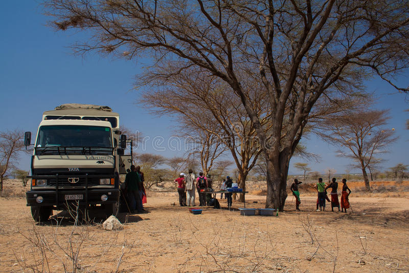 Safaritruck in Samburu lizenzfreie stockfotografie
