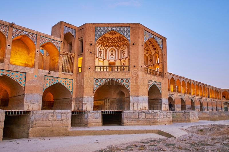 Safavid ery most w Isfahan, Iran obraz royalty free