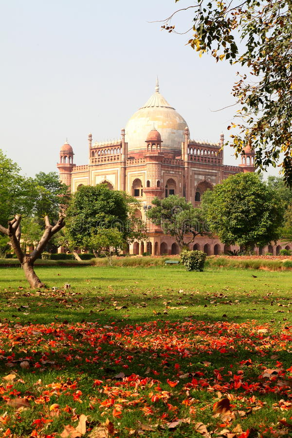 Safdarjung坟茔和庭院,新德里 免版税库存图片