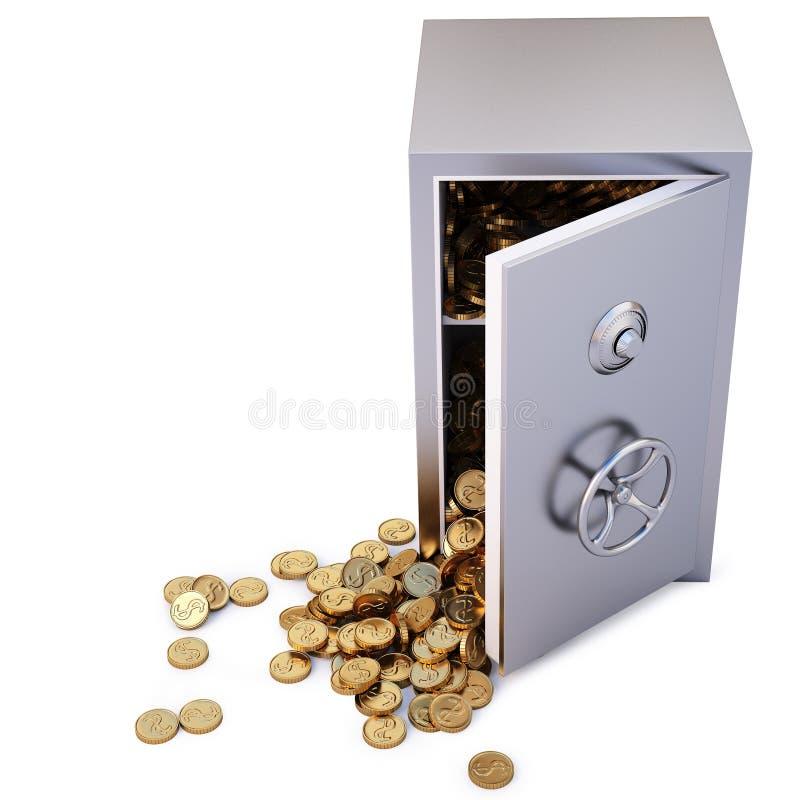 Download Safe stock illustration. Illustration of dollar, coins - 17321728