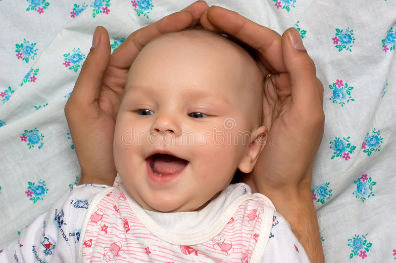 Safe baby stock image