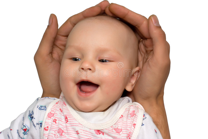 Safe baby royalty free stock photography