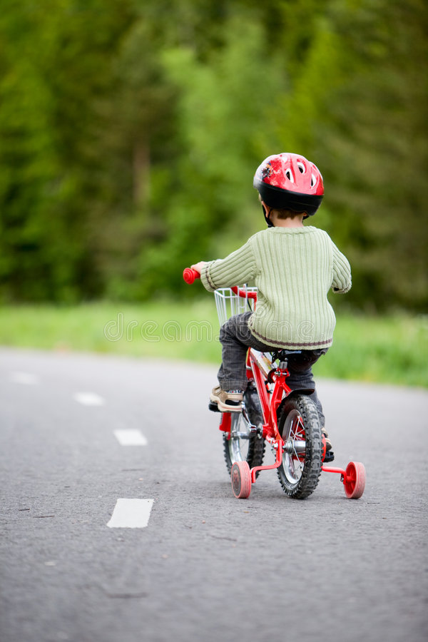 Download Safe bicycling stock image. Image of little, caucasian - 5541835