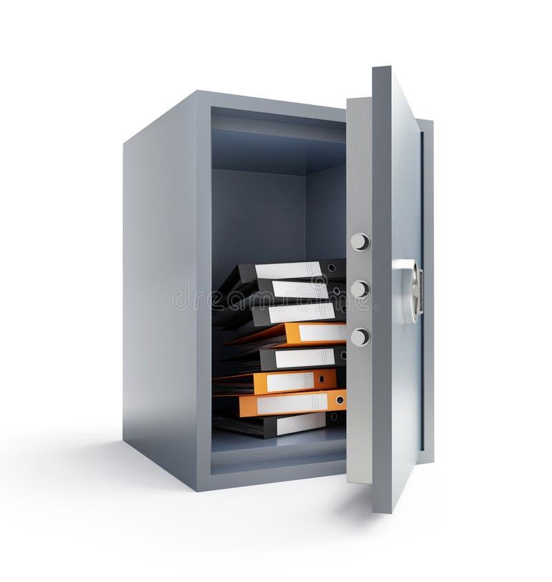 Safe binder. Safe on a white background stock illustration