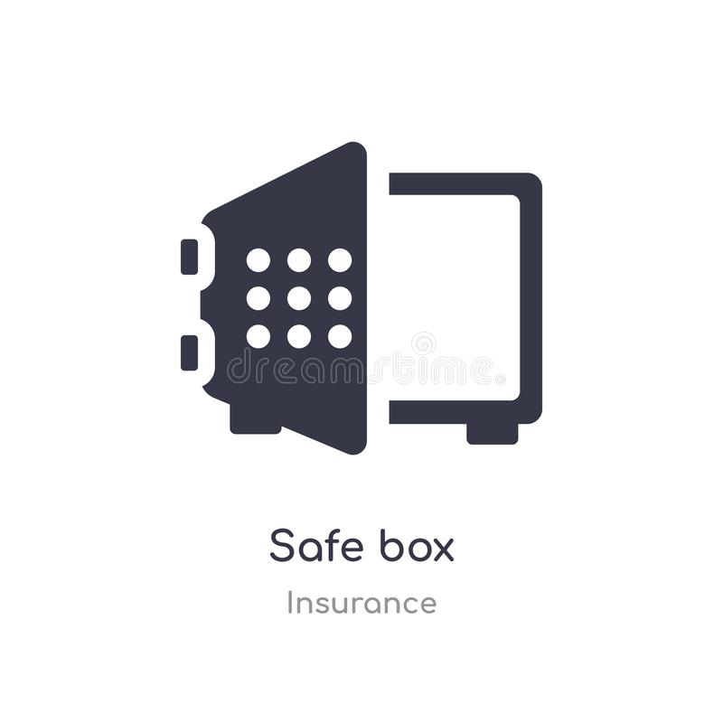 safe box icon. isolated safe box icon vector illustration from insurance collection. editable sing symbol can be use for web site vector illustration