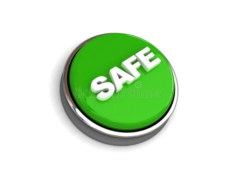 Safe button vector illustration
