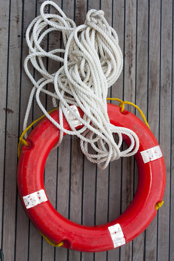 Download Safe circle with rope. stock image. Image of lifebuoy - 25201943