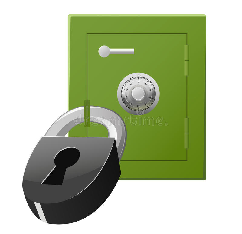 Download Safe With Code Lock And Padlock Stock Vector - Image: 16232002