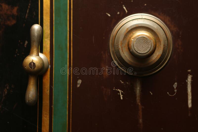 Safe with combination lock royalty free stock photos