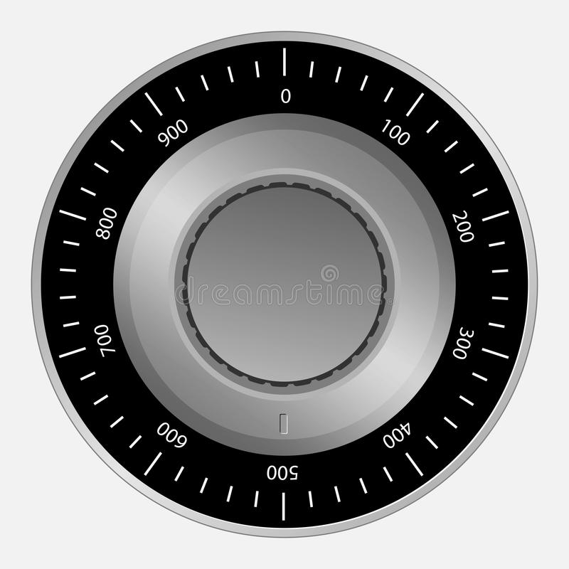 Download Safe combination lock stock vector. Image of access, safe - 32046693