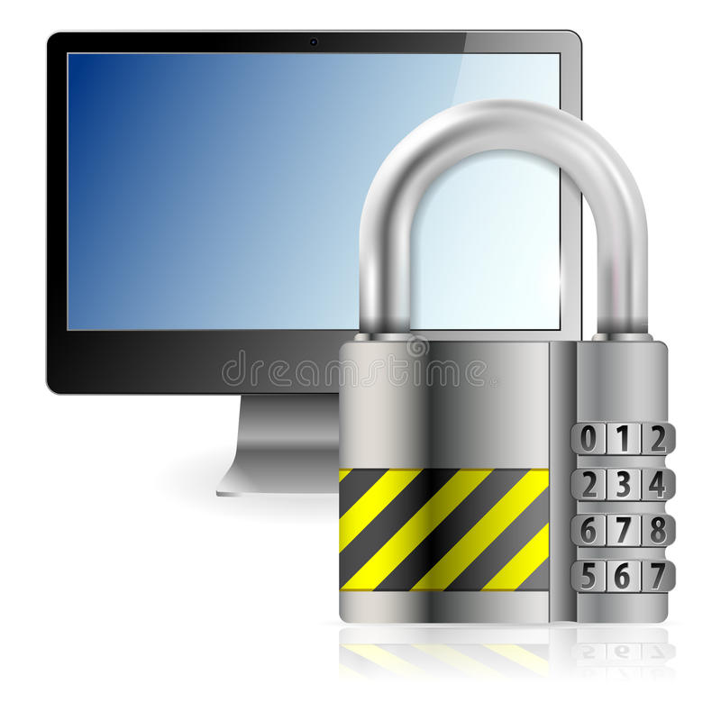 Download Safe Computer Concept stock vector. Image of padlock - 27299602