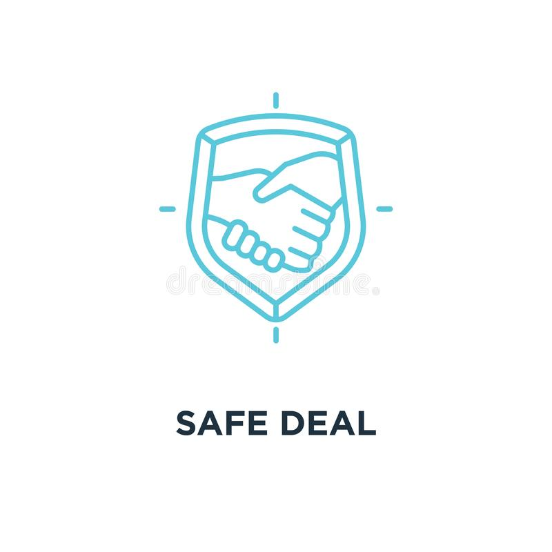 safe deal icon. trust concept symbol design, partnership with ha stock illustration