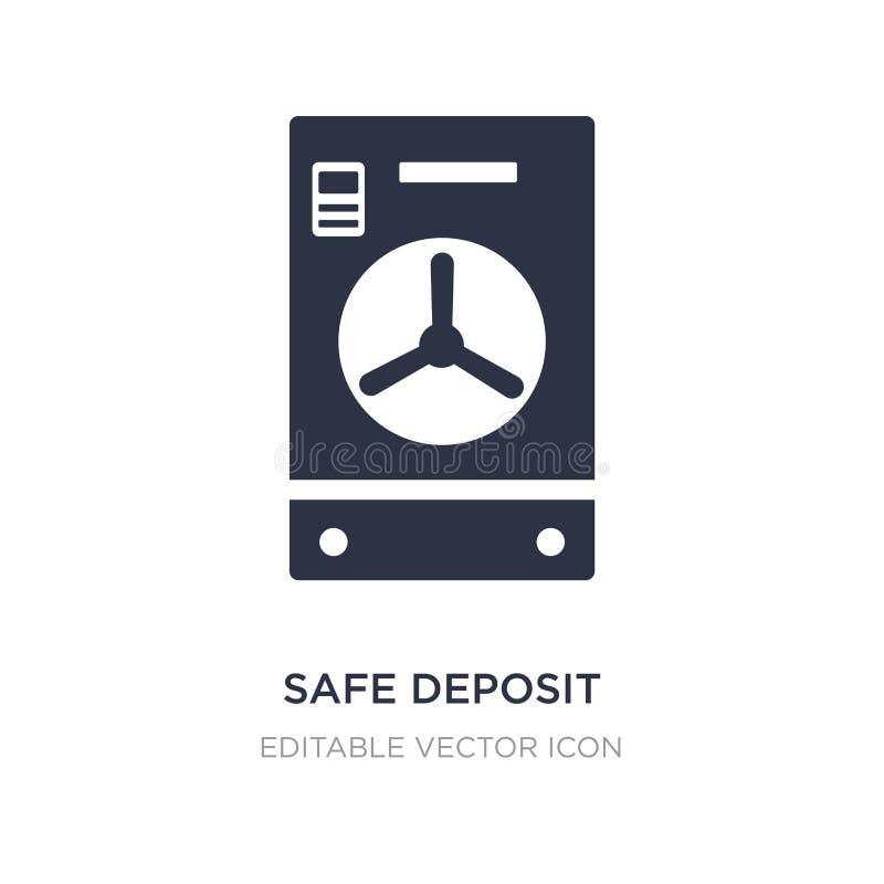 safe deposit icon on white background. Simple element illustration from General concept vector illustration