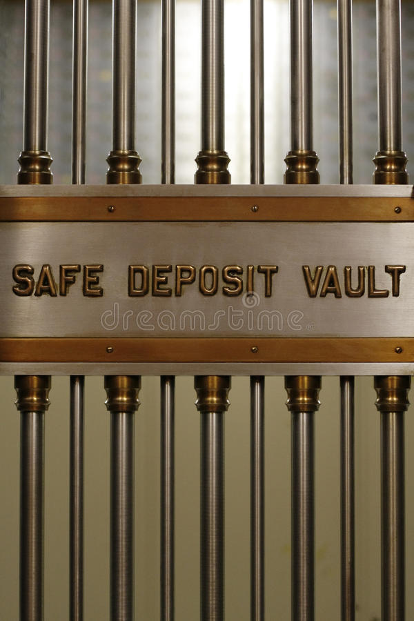 Safe Deposit Vault Vertical royalty free stock image