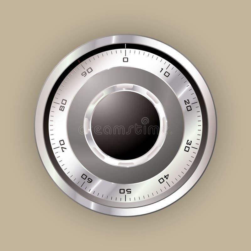 Safe dial vector illustration