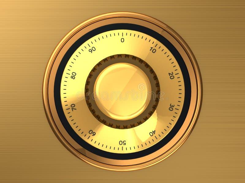 Safe dial royalty free illustration