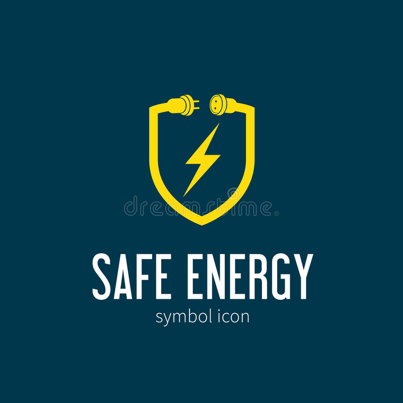 Safe Energy With Blizzard Vector Concept Symbol vector illustration