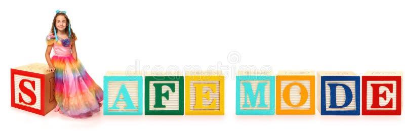 safe för alfabetblockfunktionsläge royaltyfri bild