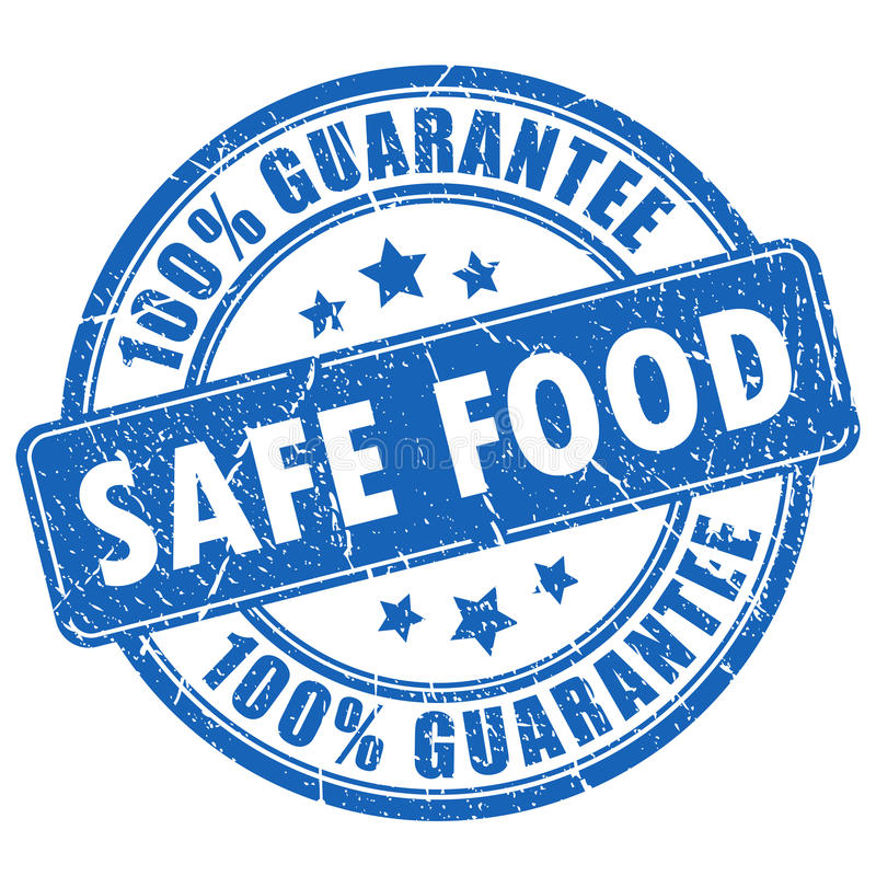 Free Safe Food Guarantee Stamp Royalty Free Stock Photography - 77585867