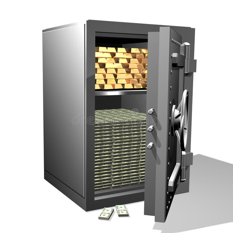 Safe$Gold illustrazione di stock