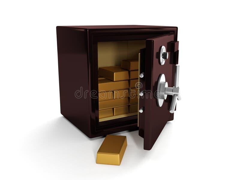 Download Safe and gold bullion stock illustration. Image of treasure - 25944829