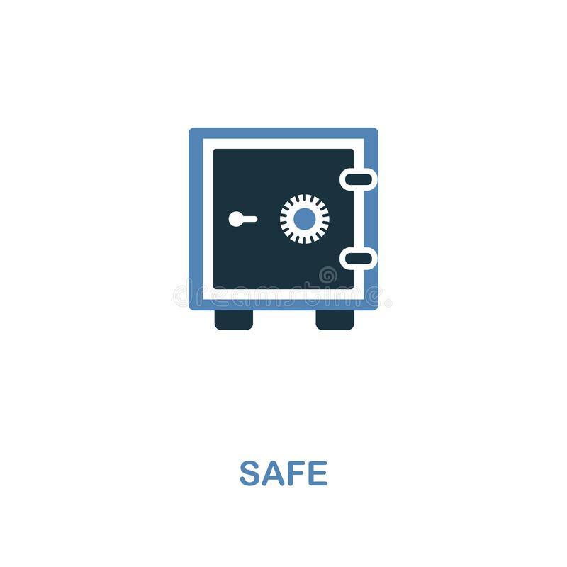Safe icon in two colors design. Pixel perfect symbols from personal finance icon collection. UI and UX. Illustration of safe icon. Safe creative icon in two vector illustration