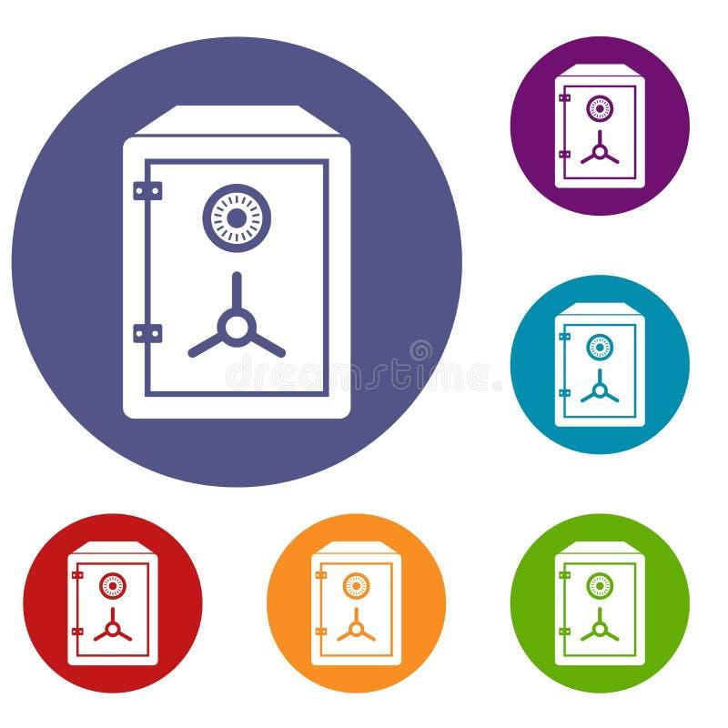 Safe icons set vector illustration