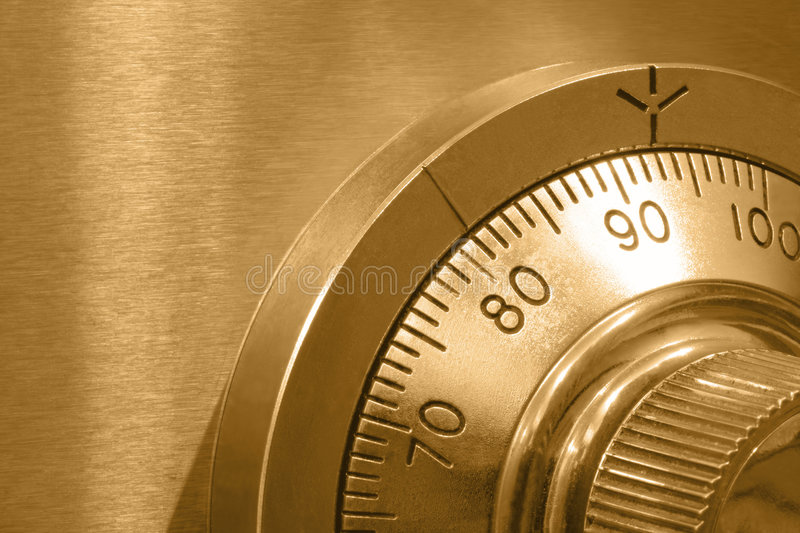 Safe Lock In Gold Stock Images
