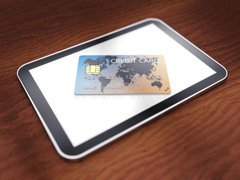Download Safe mobile shopping stock illustration. Image of finance - 24544828