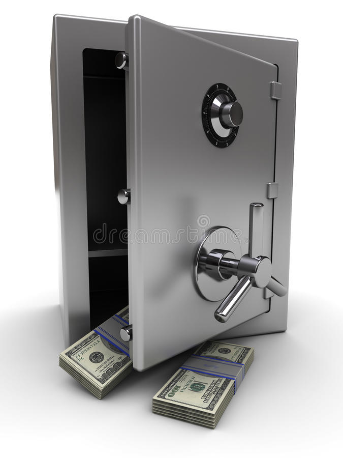 Safe with money vector illustration