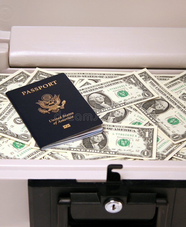 Download Safe Money and Passport stock image. Image of investment - 7905041