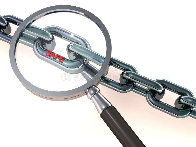 Safe online link vector illustration