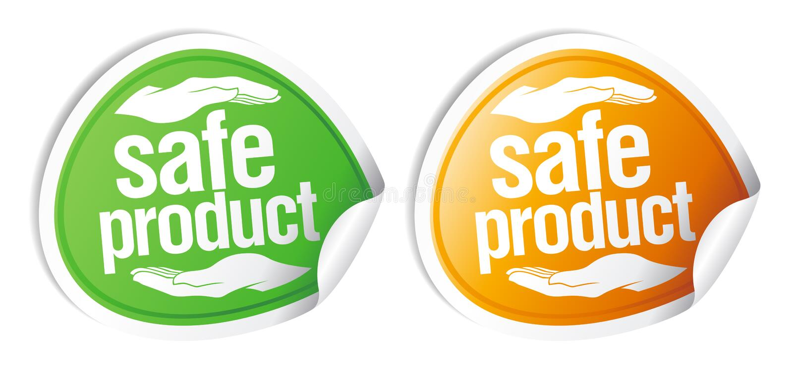 Safe product stickers. royalty free illustration