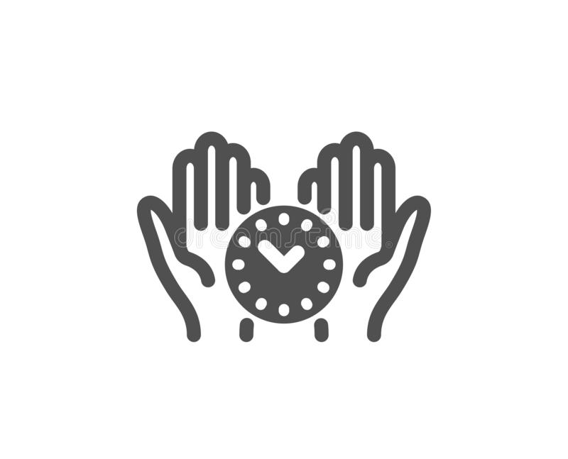 Safe time icon. Clock sign. Office management. Vector. Clock sign. Safe time icon. Office management symbol. Classic flat style. Simple safe time icon. Vector vector illustration
